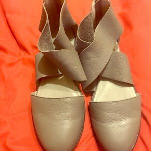 Eileen Fisher carved leather gray